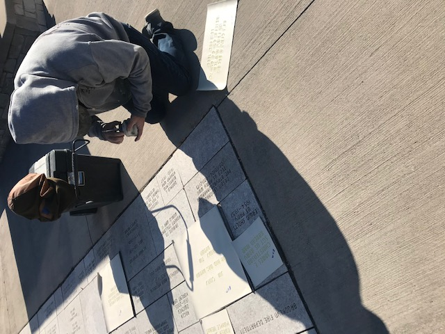 Pasting Stencils on Pavers
